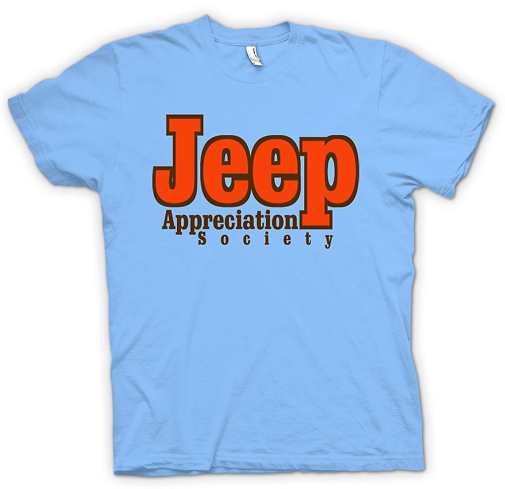 Mens t-skjorte-Jeep Appreciation Society