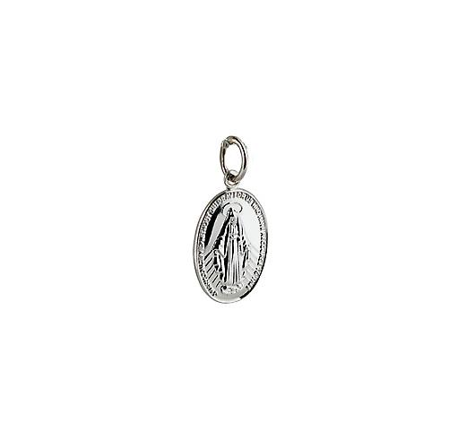 Silver 16x11mm Miraculous Medal Pendant