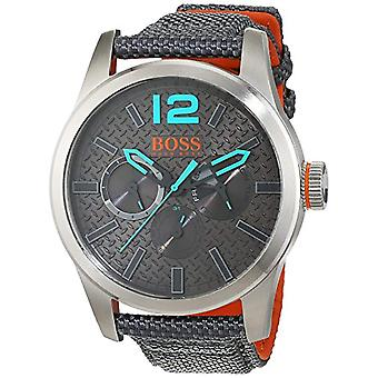 Hugo Boss Orange mens quartz watch 1513379, multi display dial and leather strap