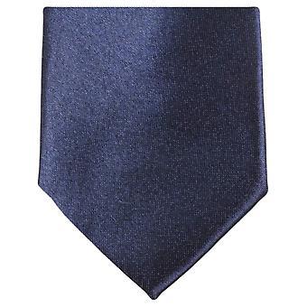 Knightsbridge Neckwear Slim Polyester Tie - Dark Navy