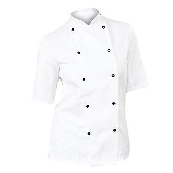 Dennys Womens/Ladies Lightweight Short Sleeve Chefs Jacket / Chefswear (Pack of 2)