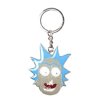 Rick And Morty Keyring Keychain Rick Big Face wriggity wrecked Official Metal