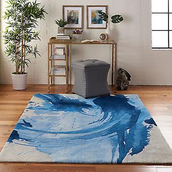 Simetria SMM01 retângulo azul marfim Funky tapetes