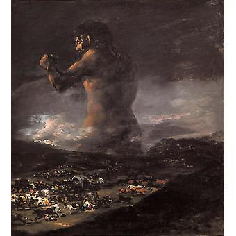 Kolossen, Francisco Goya, 50x45cm