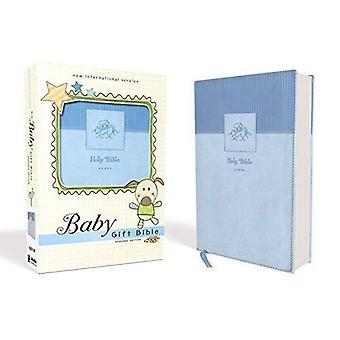 NIV, Baby gåva Bibeln, Bibeln, Leathersoft, blå, röd bokstav upplagan, Comfort Print: Keepsake Edition