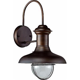 Faro - Estoril Rust Brown Small Outdoor Wall Light FARO71140