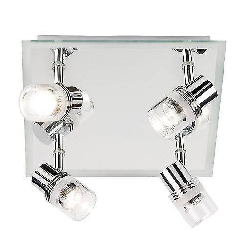 Endon EL-174 Contemporary Bathroom Spotlight Plate With Mirror Backplate
