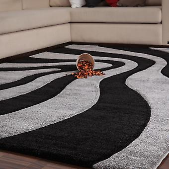 Rugs -France - Provence In Black & Silver