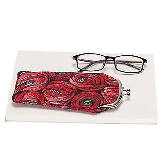 Mackintosh - rose and teardrop glasses pouch by signare tapestry / gpch-rmtd