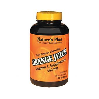 Nature's Plus Orange Juice C 500mg Chewable Tabs 90 (2465)
