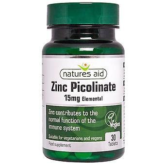 Nature's Aid Zinc Picolinate 15mg elemental Tablets 30