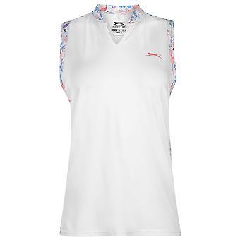 Slazenger Womens ärmlös Fashion pikétröja T-shirt topp damer