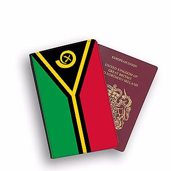 VANUATU Flag Passport Holder Style Case Cover Protective Wallet Flags design