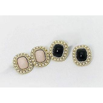 Earrings with beads-1-pair (pink)