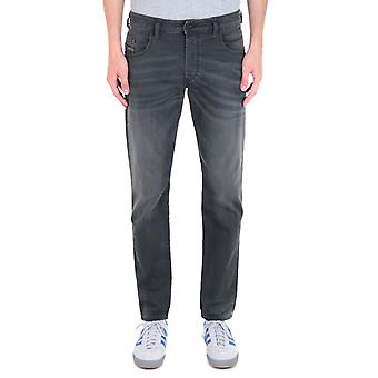 Diesel D-Bazer Tapered Fit Grey Wash Denim Jeans
