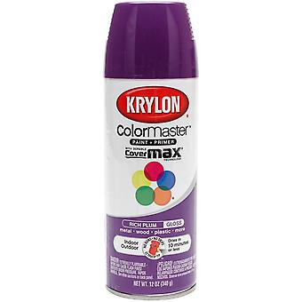 Colormaster Indoor/Outdoor Aerosol Paint 12oz-Gloss Rich Plum 1000A-51914