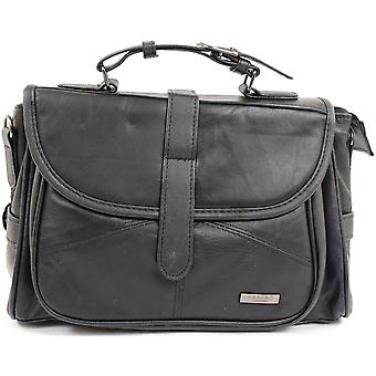 Ladies / Womens Soft Nappa Leather Small Satchel / Across Body / Shoulder Bag
