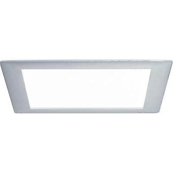 Recessed panel Premium Line 8 W LED brushed aluminium Daylight white, square, single set 1x8 W, 8 VA, 350mA, incl. bulb