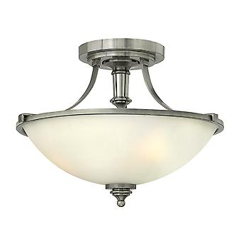 Truman Contemporary Ceiling Light with Etched Opal Glass Shade