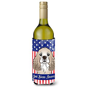 Cocker Spaniel Wine Bottle Koozie Hugger BB2146LITERK