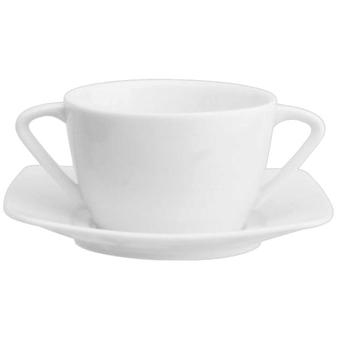 Avet Cup consomme With 350 Ml Plate Set of 6