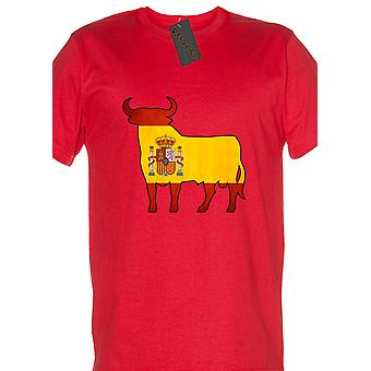 Renowned Spanish Bull with Flag inside