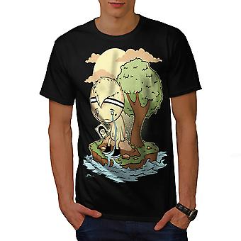 Wellcoda | Cry Me A River Woeful Dejected  Mens Black T-Shirt