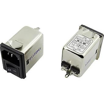 EMI filter + switch, + IEC socket 250 Vac 6 A 0.7 mH (L x W x H) 41.1 x 31.6 x 56 mm Yunpen YR06A3 1 pc(s)