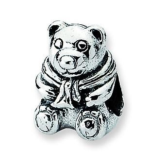 Sterling Silver Reflections Teddy Bear Bead Charm