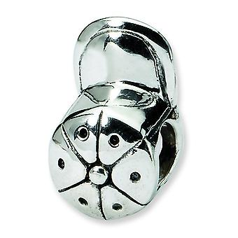 Sterling Silver Reflections SimStars Baseball Cap Bead Charm