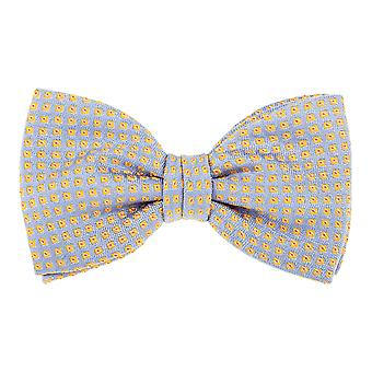 Pellens & Loïck men's bow tie silk squares grey