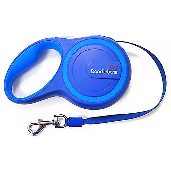 Doodlebone Rambler Retractable Tape Lead Two Tone Blues 25kg - 5m