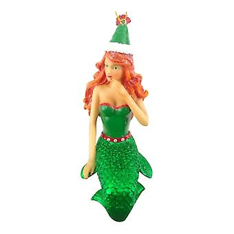 Ginger Snap in Green Mermaid Christmas Holiday Ornament 7.25 Inches