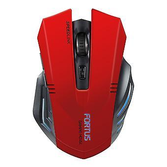 SPEEDLINK Fortus Wireless optische Gaming-Maus - rot/schwarz (SL-680100-BK-01)
