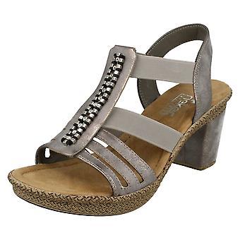 Ladies Rieker Sandals with Heel 66584