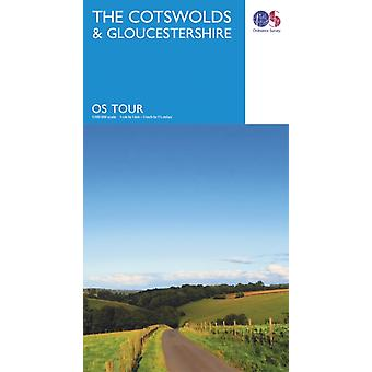 Tour The Cotswolds & Gloucestershire (OS Tour Map) (Map) by Ordnance Survey