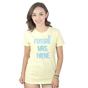 Women's One Direction Future Mrs. Payne Graphic Printed Yellow Casual T-shirt