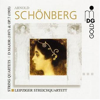 A. Schoenberg - Sch Nberg: String Quartets D Major (1897) & Op. 7 (1905) [CD] USA import