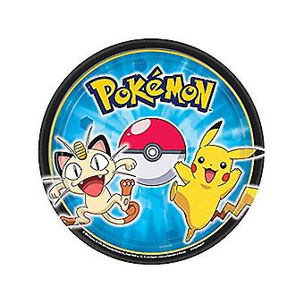 Pokemon Pikachu and Friends Dessert Plates [8 Per Pack]