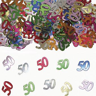 Table confetti number 50 decorative confetti birthday party