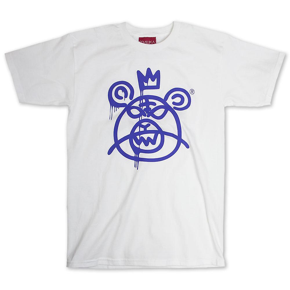 Mishka Bär Mop T-Shirt weiß blau