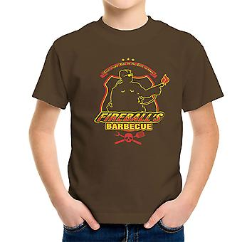 Ildkugler BBQ kører mand Kid's T-Shirt