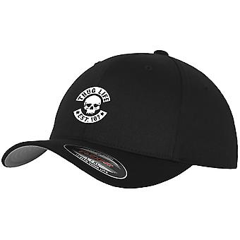 Thug Life Flexfit stretch Cap - SKULL black
