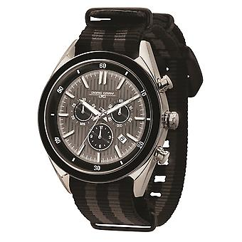 JG6900-23N Mens Watch Chrono Swiss Movement With Black Strap