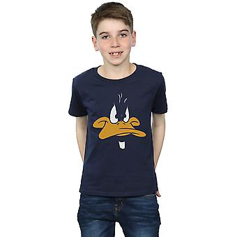 Looney Tunes Boys Daffy Duck Big Face T-Shirt