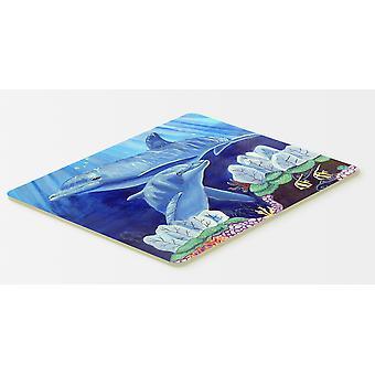 Carolines Treasures  7080CMT Dolphin under the sea Kitchen or Bath Mat 20x30