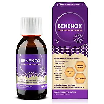 Natures Aid, Benenox Overnight Recharge Food Supplement Blackcurrant - 135ml
