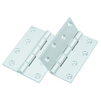 Premium Quality M4TEC ZC3 Aluminium Interior Butt Door Hinge - Sturdy, Durable & Easy To Install – Non-Fire – With Heavy Gauge Flap & Nylon Washers - Ideal For Hospitals, Vet & Hygiene Facilities. 2 pcs