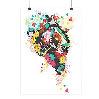 Matte or Glossy Poster with Colorful Geometry Music | Wellcoda | *d1278