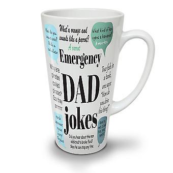 Schlechte Witze Vater Wortspiele neu weißer Tee Kaffee Keramik Latte Becher 17 oz | Wellcoda